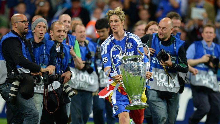 Torres was part of the Chelsea side that lifted the Champions League in 2012