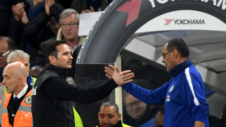 Frank Lampard took over from Sarri at Stamford Bridge