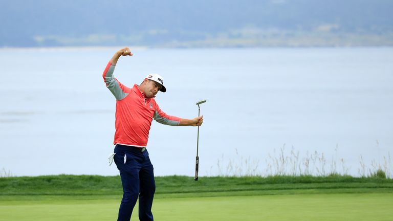 Woodland claimed a three-shot win at Pebble Beach