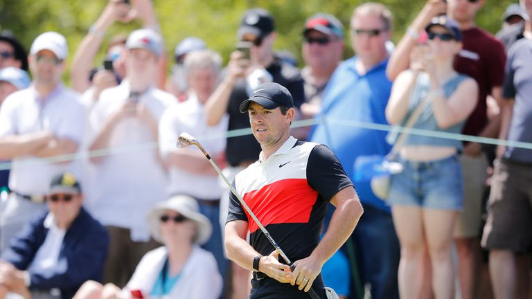Rory McIlroy shot a six-under 64