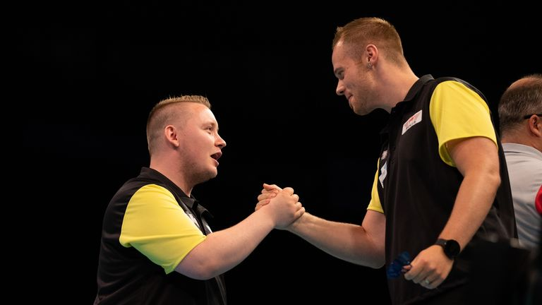 Max Hopp and Martin Schindler have formed a strong partnership at the World Cup of Darts