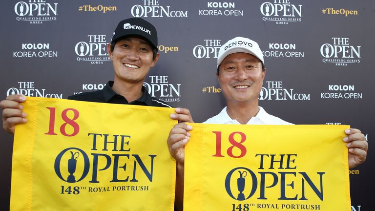 Innchoon Hwang and Dongkyu Jang  will tee up at Royal Portrush