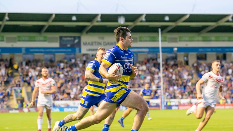 Jake Mamo scored a late try for Warrington, but there was no way back against St Helens
