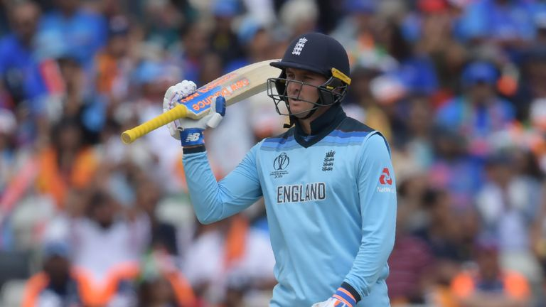 Jason Roy struck 66 on his return to the England team after missing three games to a hamstring injury