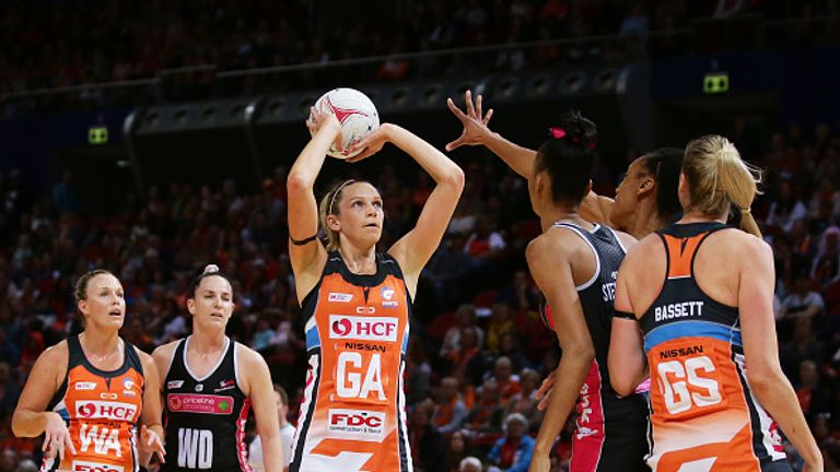 Jo Harten has been playing for GIANTS in the Super Netball competition in Australia