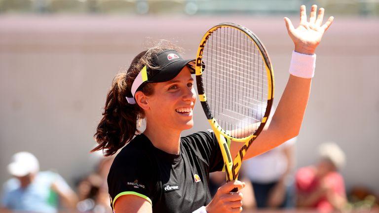 Britain's Johanna Konta is through to the quarter-finals at Roland Garros