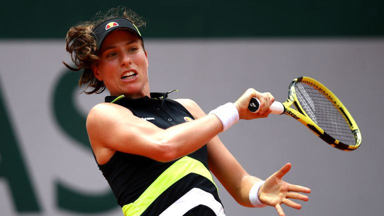 Konta reached the last four at the Australian Open and Wimbledon previously
