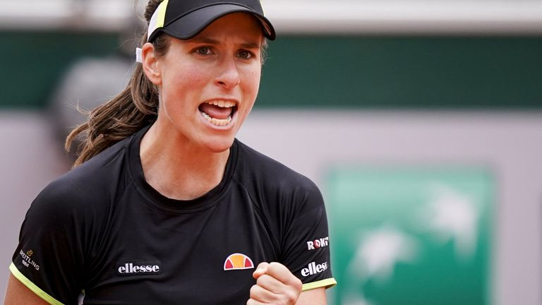 Konta had lost all four main-draw matches at Roland Garros prior to this year