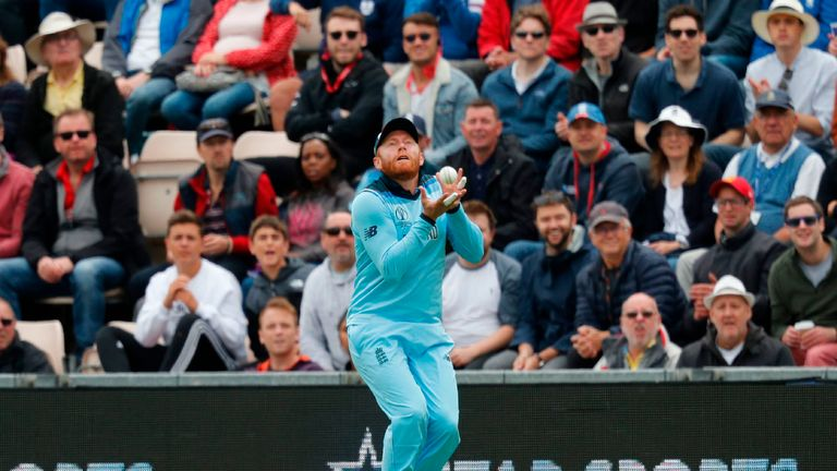 Jonny Bairstow caught Chris Gayle on the boundary for 36