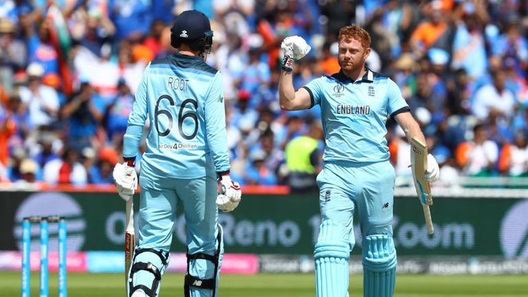 Jonny Bairstow has struck back-to-back World Cup centuries as England have clinched a semi-final spot