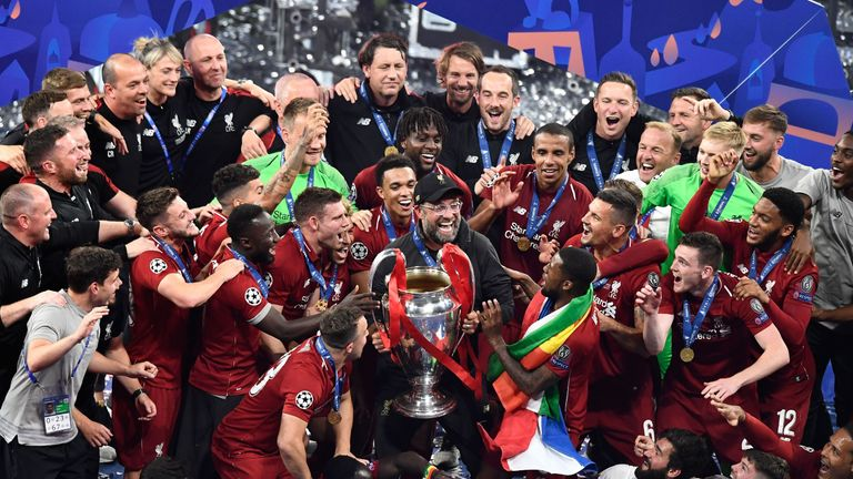 Liverpool beat Tottenham 2-0 in the Champions League final in June