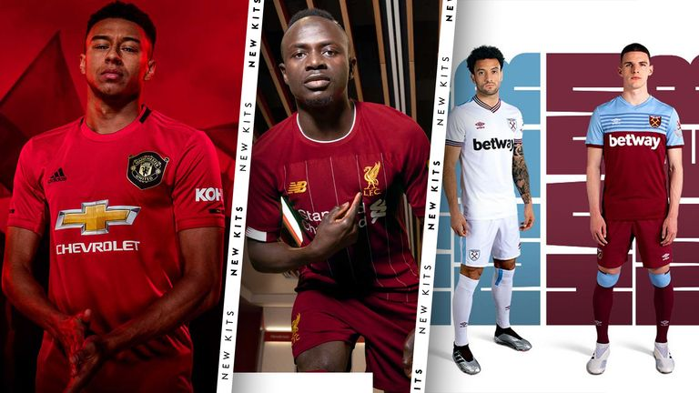 8716051ab1bf1 New Premier League kits for the 2019/20 season. Chelsea, Liverpool, Manchester  United ...