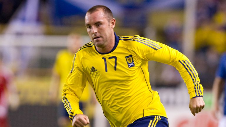 Boyd in action for Scotland