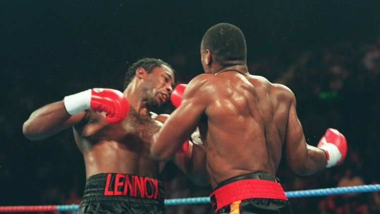Lennox Lewis lost his WBC title and 25-fight undefeated record to Oliver McCall