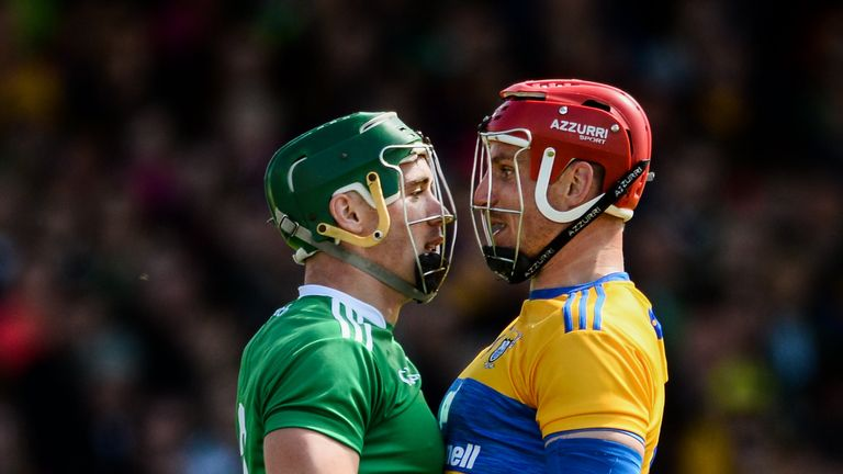 Seán Finn and John Conlon had a fierce battle throughout the game