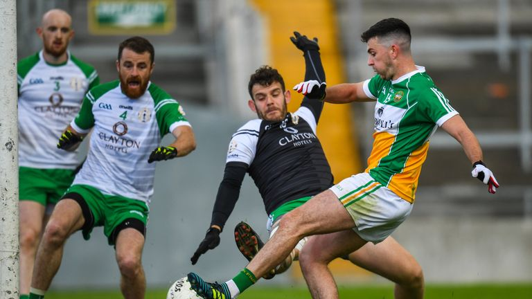 Ruairí McNamee finds the net for Offaly