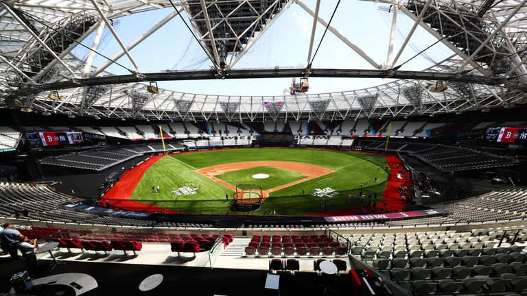 The London Stadium was transformed to host two Major League baseball games in June