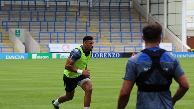 Luther Burrell could make his debut for Warrington against St Helens