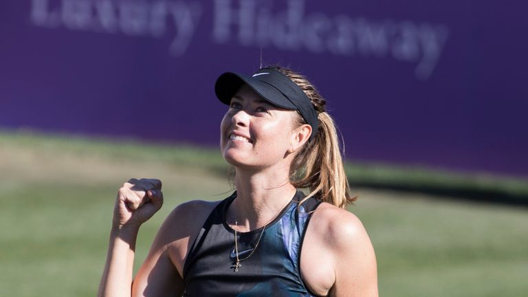 Maria Sharapova made a winning return from injury on Tuesday