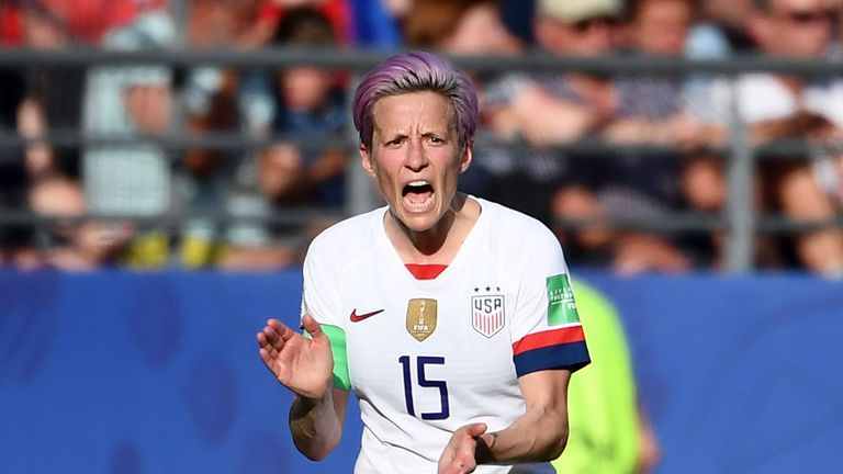 Megan Rapinoe helped the USA win the World Cup in July