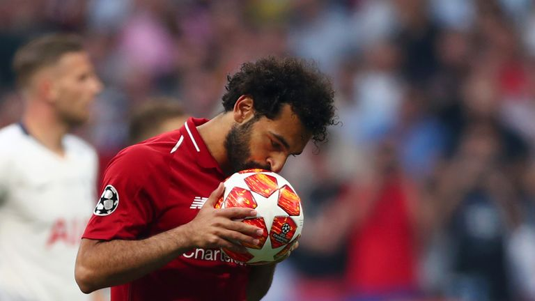 Mohamed Salah's early penalty was enough to give Liverpool a 1-0 half-time lead