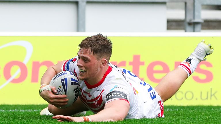 Morgan Knowles was one of St Helens' try-scorers against Wakefield