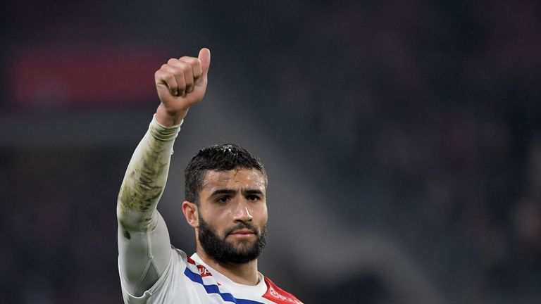 Lyon's french midfielder Nabil Fekir has been linked with a move away from the club this summer