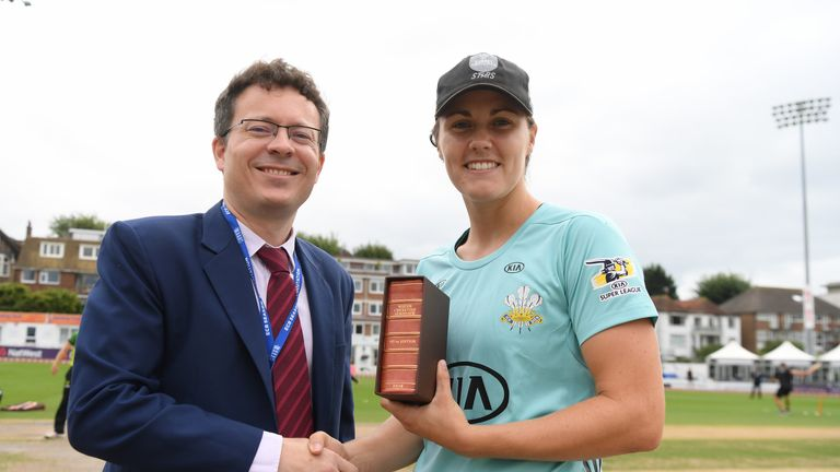 Nat Sciver was one of three England Women players to be named among Wisden's Five Cricketers of the Year for 2017