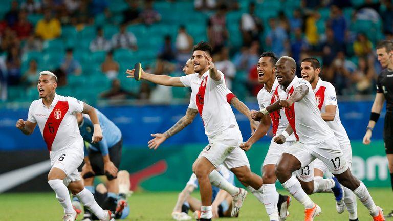 Peru celebrated reaching their third Copa America semi-final from the last four tournaments