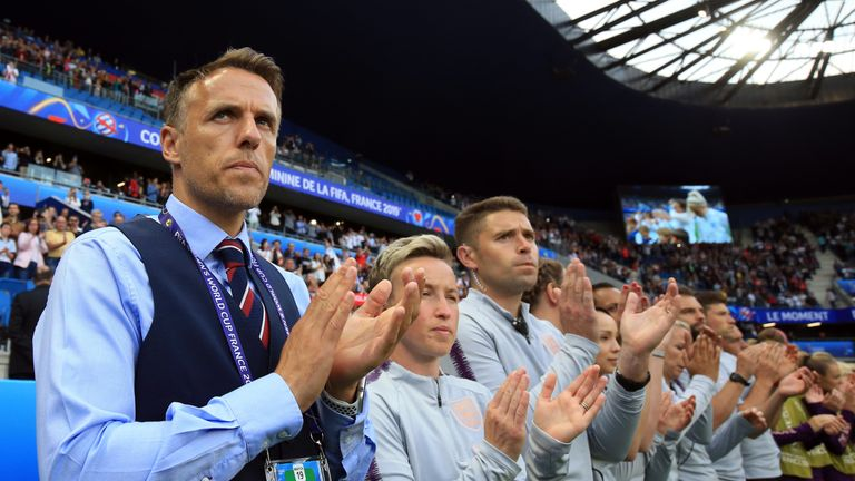 Phil Neville is hoping to guide his side to the World Cup semi-finals