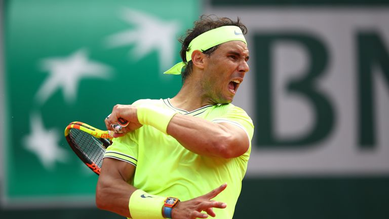 Nadal dropped just the seventh set in French Open finals