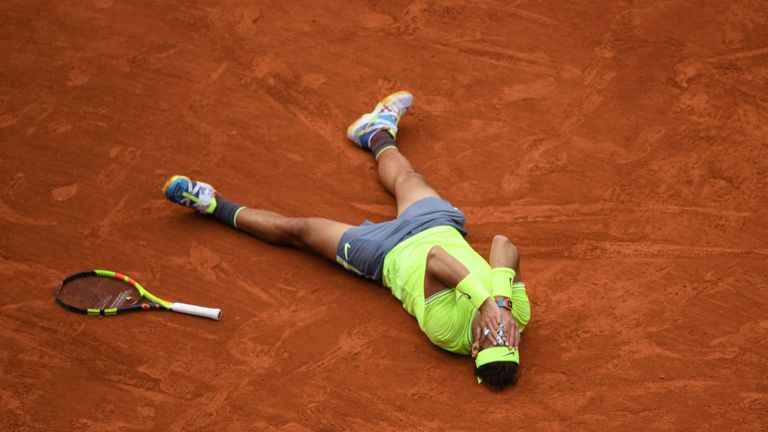 The Spaniard claimed his 18 Grand Slam title