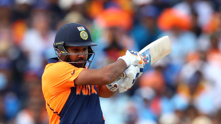 Rohit Sharma hit a fine hundred - his third of the World Cup