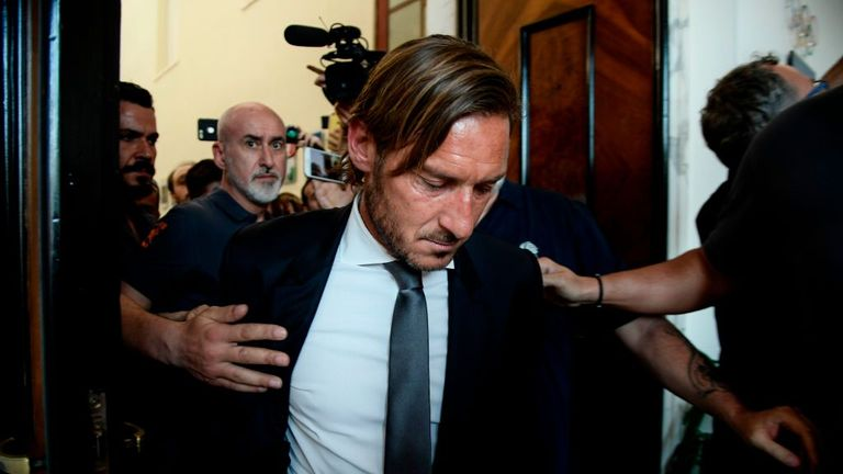 Francesco Totti criticises Roma owners after resigning as club director