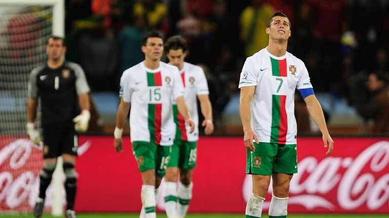 Ronaldo ended a 16-month goal drought at the 2010 World Cup - but it ended in more frustration