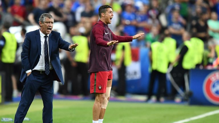 Ronaldo famously inspired Portugal to victory at Euro 2016 from the sidelines after being forced off injured