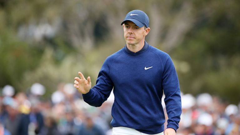 Rory McIlroy is in the group on six under and five off the pace