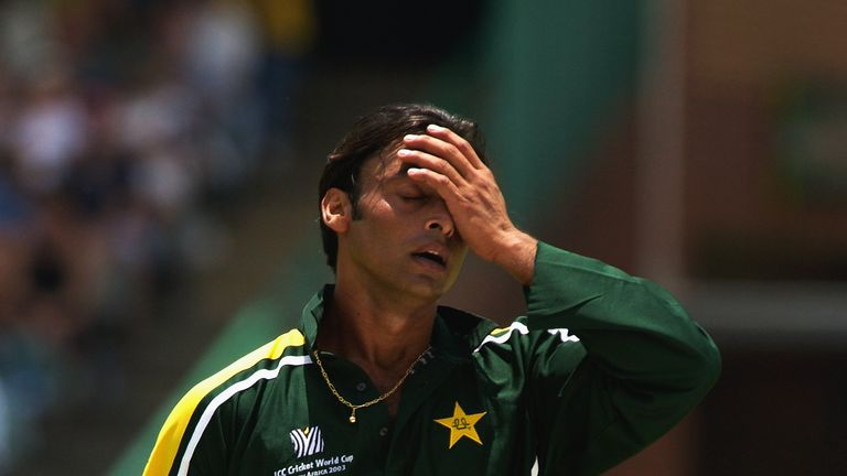 Shoaib Akhtar and Pakistan were eliminated at the group stage in 2003