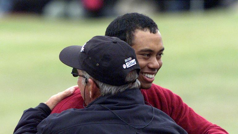 Harmon worked with Woods until 2003