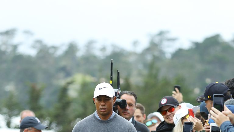 Tiger Woods was furious after bogeys at two of the first three holes