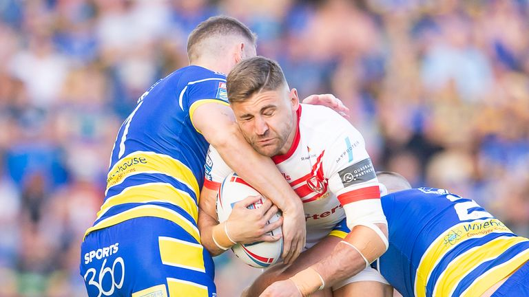 Defence was on top for both Warrington and St Helens in the first half