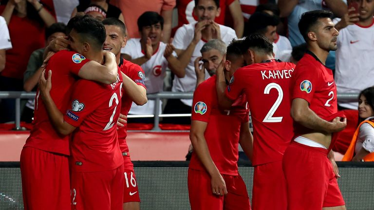 Turkey go into the match in Iceland after a  2-0 win over world champions France