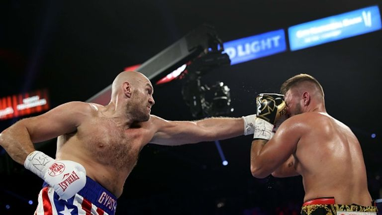 Tyson Fury showed spite and power against Tom Schwarz