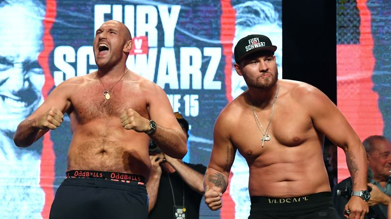 Fury has weight, height, reach and experience on his side against Schwarz