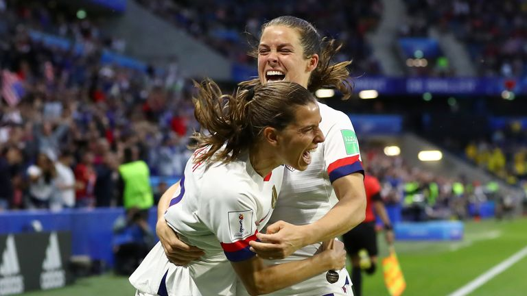 The USA completed a record-breaking group stage with victory over Sweden
