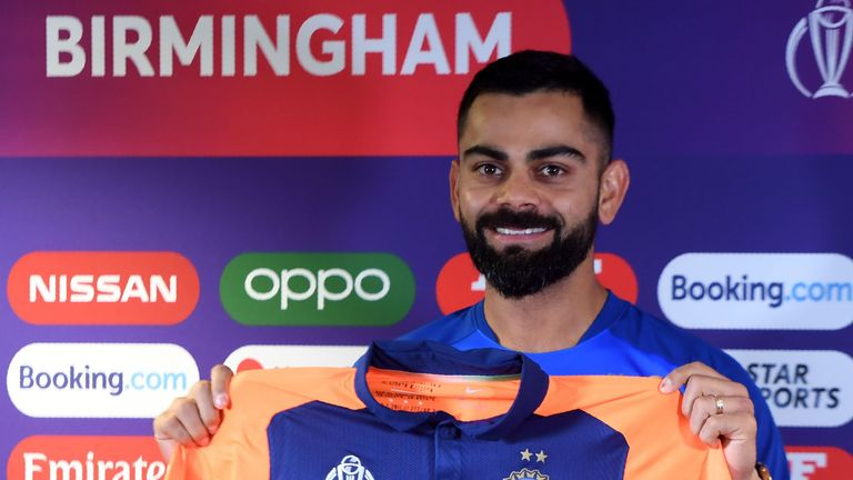 Virat Kohli's India will be wearing a change of colours against England due to a kit clash