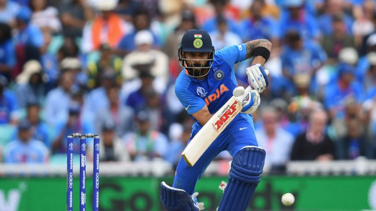 Virat Kohli has a top score of 82 in the World Cup so far