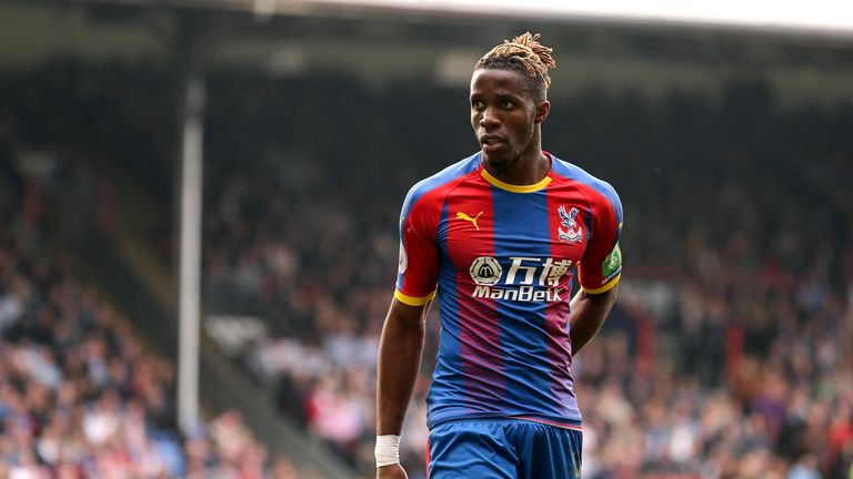 Roy Hodgson says Arsenal are 'nowhere near' Wilfried Zaha's valuation with their previous bids