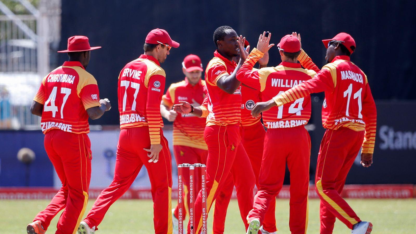 Zimbabwe Cricket Team Zoom Background