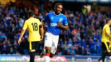 Jermain Defoe was at the double for Rangers against St Joseph's